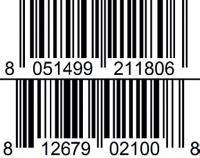 sea salt caramel almond and chocolate gelato barcode