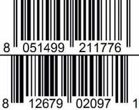 vanilla and chocolate almond gelato barcode
