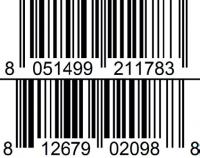 vanilla and chocolate barcode